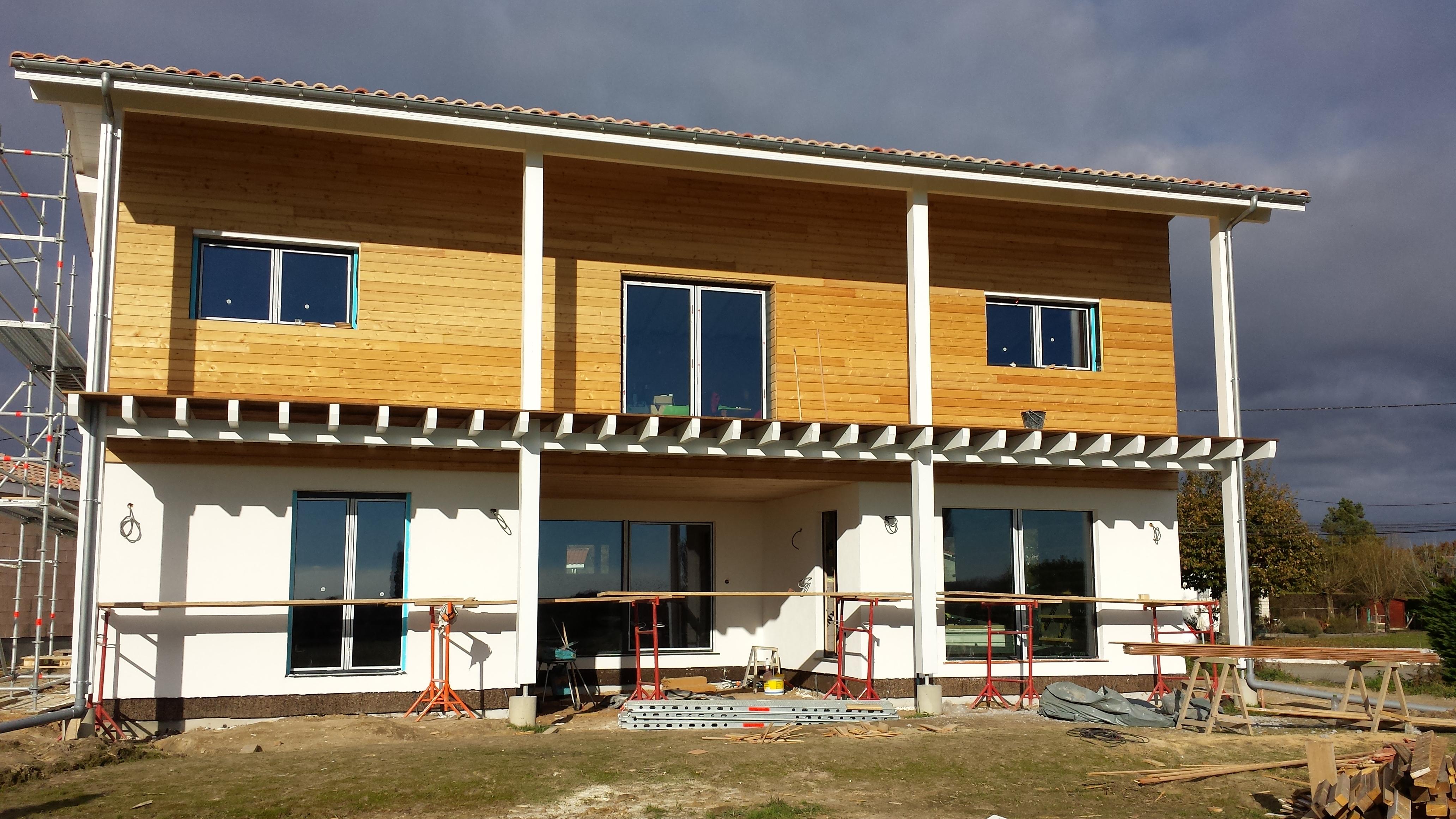 construction maison passive landes plein sud habitat. Black Bedroom Furniture Sets. Home Design Ideas